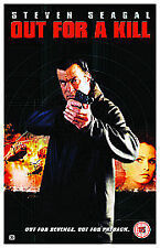 OUT FOR A KILL VHS PAL STEVEN SEAGAL,COREY JOHNSON RARE 2003