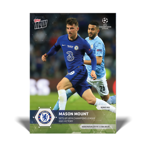 Mason Mount Chelsea FC UCL Topps Now 2020 2021 Card #79 UEFA Champions