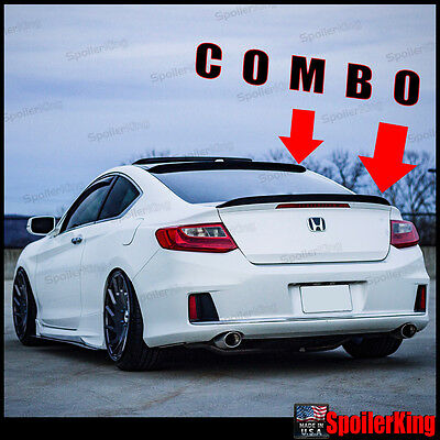 Flat Black 148 NRS Rear Roof Spoiler Wing For 2013~2015 Honda Accord EX-L Coupe