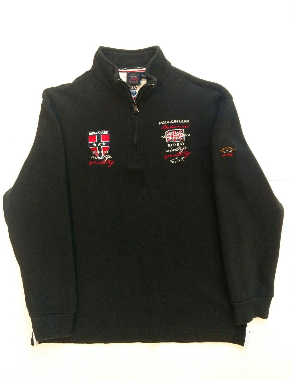 Paul & Shark 1 4 Zip Navy Sweater L