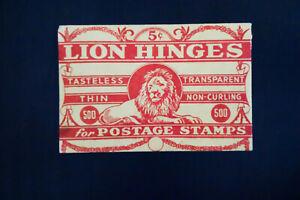 Lion Vintage Hinges for Stamps