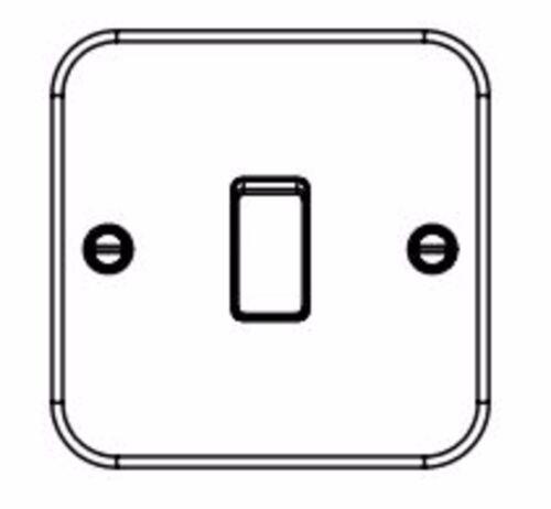 Knightsbridge Metal Clad 10A 10 Amp 1 Gang 2 Way Single Light Switch M2000