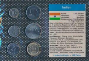 India-Stgl-unzirkuliert-coin-set-1988-2004-10-Paise-until-5-Rupees-9031230