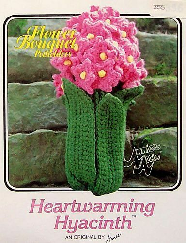 Crochet Flower Bouquet Potholders Heartwarming Hyacinth  OOP Pattern  Annie/'s