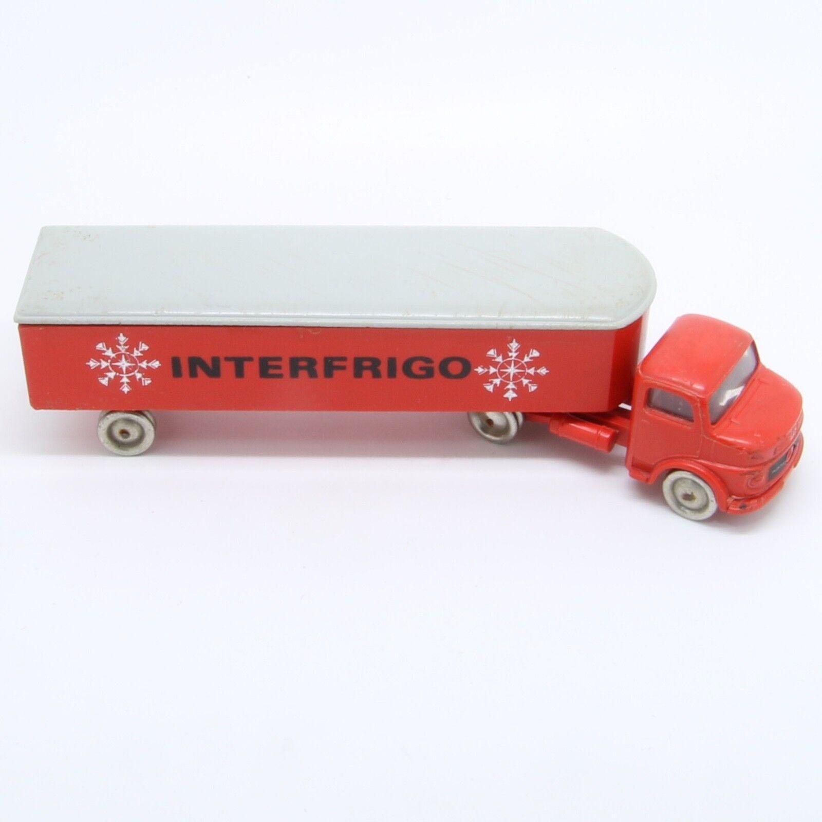 Vintage Lego 1964 - 657 Mercedes Long Covered Van 1 87 Interfrigo Scritta red