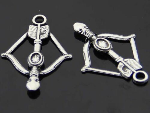 30pc Retro Tibetan Silver(Bow and arrow)Jewelry Accessories wholesale PJ2294