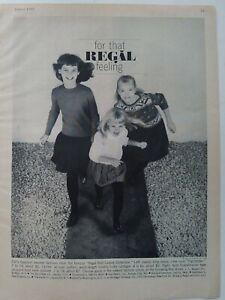 1961-Poco-Chicas-Real-Rojo-Alfombra-Coleccion-Jerseys-Blusa-Vintage-Moda-Anuncio