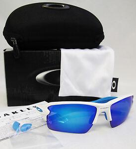 91b4573fddd New OAKLEY Flak 2.0 XL Matte White   Sapphire Iridium Sunglasses ...