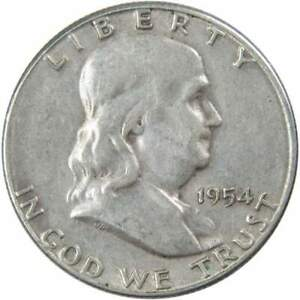 1954-S-50c-Franklin-Silver-Half-Dollar-US-Coin-XF-EF-Extremely-Fine