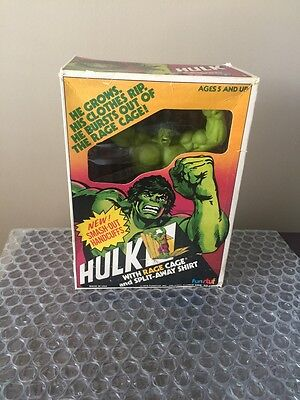 Vintage 1978 Marvel Comics The Incredible Hulk -Rage Cage Figure Fun Stuf Remco