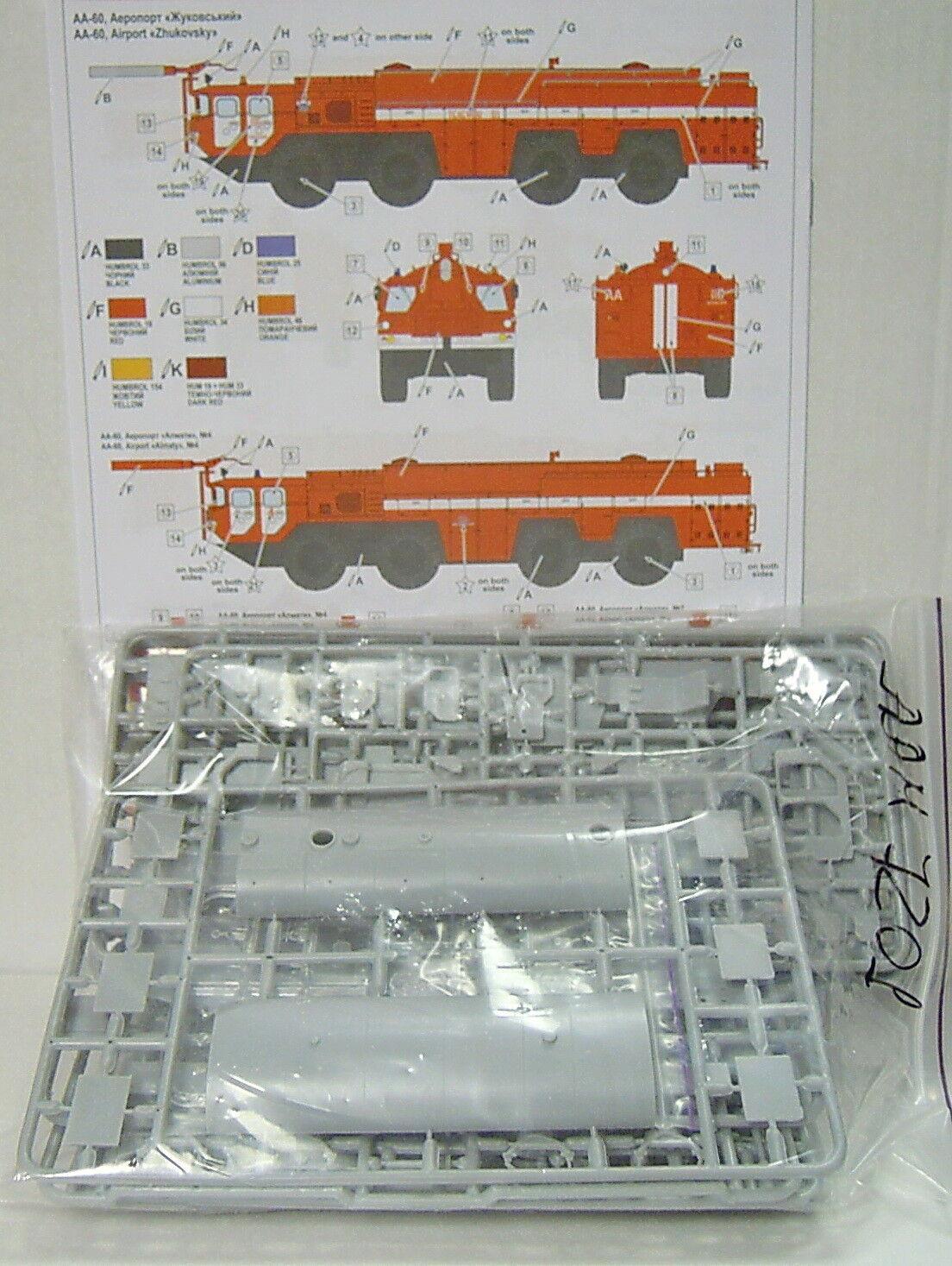 Airport Fire Brigade AA-60, 1 1 1 72, A&A Models, Plastic, NEW 76a0d6