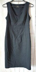 Cue-Dress-Size-10-Medium-Black-Sleeveless-Pencil-Corporate