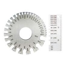 2 Pcs Kit Round Wire Gauge Sheet Metal Thickness Gauge Measuring Tool
