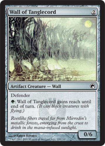 English Scars of Mirrodin MTG Magic 4x Wall of Tanglecord NM-Mint