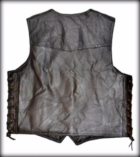 Big Size M ~ 3XL  NEW Motorcycle Leather vest jacket with lace harley custom