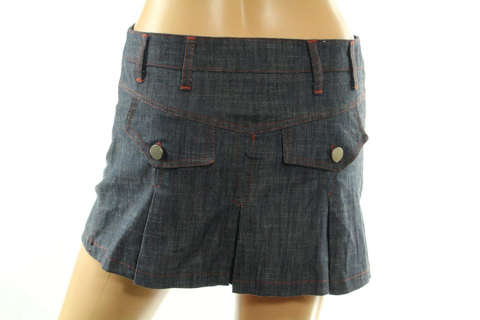Kamaie Women's Mini Skirt Pleated Denim Size 40 (4 US) Made in  Retail