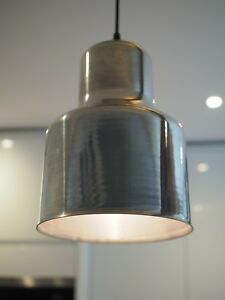 Details About Aluminium Style Pendant Lights Set Of Two