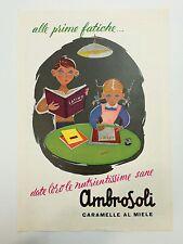 Pubblicità 1956 CARAMELLE AMBROSOLI MIELE SWEET RONAGO COMO advertising werbung