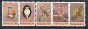 Raisonnable Île Norfolk (norfolk Island) - Michel-nº 339-343 Cachet/** (hiboux/owl)