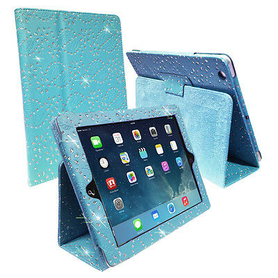 Diamond Bling Sparkly Leather  media Stand Case Cover For various smart Tablets
