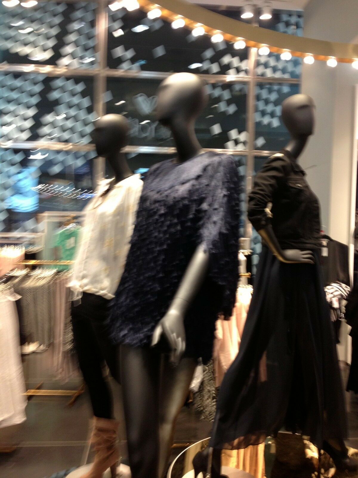 H&M SPRING 2014 COLLECTION NAVY NAVY NAVY blueE FRINGE DRESS TUNIC CONSCIOUS TREND DIVIDED 2ffc00