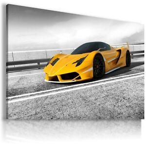 FERRARI FXX YELLOW Sports Cars Large Wall Art Canvas Picture AU334 MATAGA .