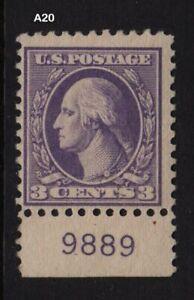 1918-Sc-530-MNH-plate-number-single-Hebert-CV-22-50