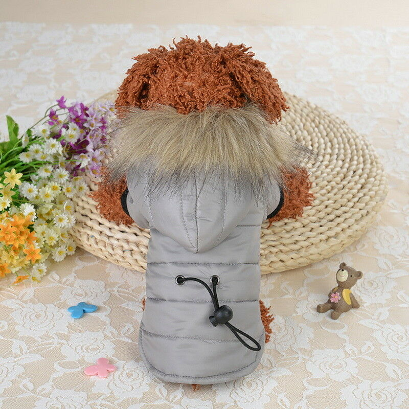 Pet Small Dog Puppy Warm Coat Jacket Hoodie Thick Apparel Outwear Clothes XS-XL 6