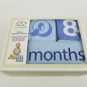 Blue-Fabric-Milestone-Blocks-For-Baby-Boys-Gender-Photo-Birthday-Prop-Record-Age
