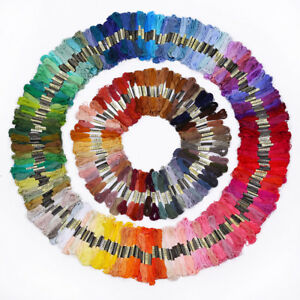 50-Colors-Cotton-Line-Floss-Sewing-Skeins-Cross-Stitch-Thread-Color-Embroidery