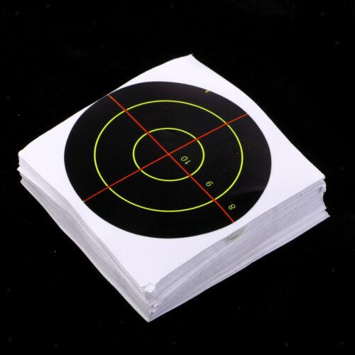 """100pcs Schießscheiben 3 /""""Reactive Splatter Glow Florescent Paper Target"""