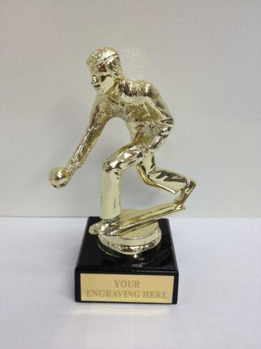 Male Lawn Bowls Trophy Award FREE ENGRAVING MB2