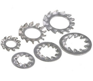 EXTERNAL SERRATED SHAKEPROOF WASHERS A2 STAINLESS STEEL M2 M12 STAR WASHER