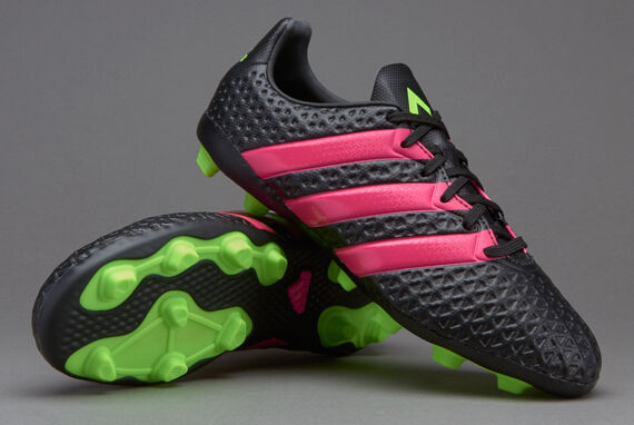 fbf8f3870de4e adidas Ace 16.4 FXG Youth Soccer Cleats Shoes Black Green Pink Boys Size  4.5 for sale online