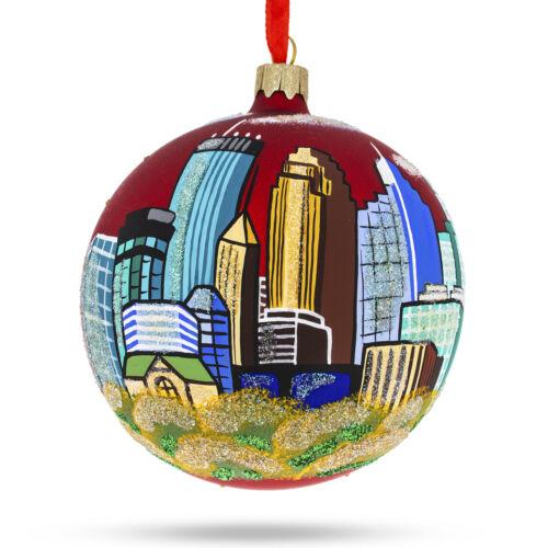 Minnesota Glass Christmas Ornament 4 Inches Minneapolis
