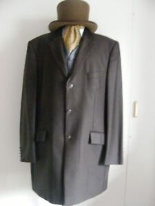 Brown-wool-pinstripe-frockcoat-Prince-Edward-Victorian-Steampunk-1930s-all-sizes