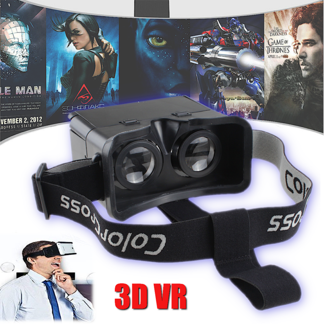 3d Vr Headset Glasses Virtual Reality For 4 7 6 0 Iphone 7 Plus For Sale Online Ebay