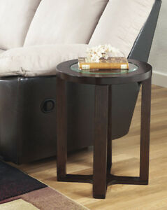 Image Is Loading Ashley Furniture Round End Table Marion Dark Brown