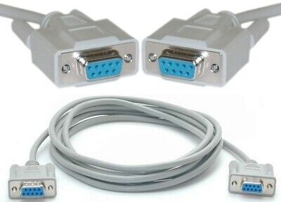 10ft long DB9pin Female~F Null Modem Cross//Nul wired,Serial RS232cable//Cord//Wire
