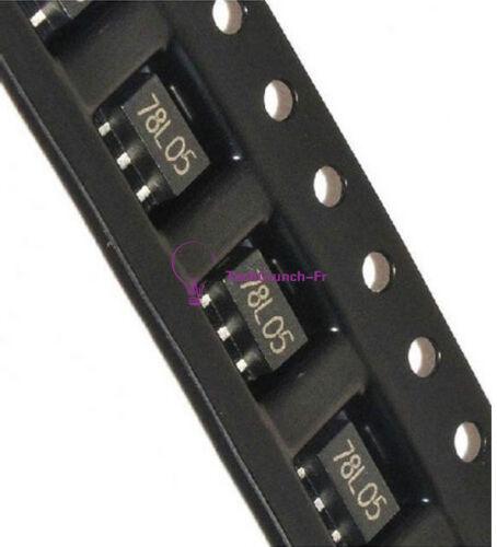 20//50//100Pcs L78L05 78L05 7805 Voltage Regulator 5V 100mA SOT-89 SMD