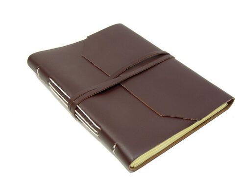 GEO XXL Mocca Büffelleder gm-in-14-004 Lederbuch Tagebuch