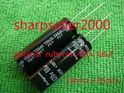 10pcs ORIGINAL 420V 68UF Rubycon Electrolytic Capacitor 13x36mm A41