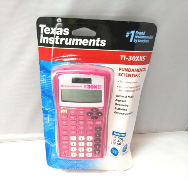 Texas Instruments TI-30X IIS Scientific Calculator Pink Solar Battery Power NEW