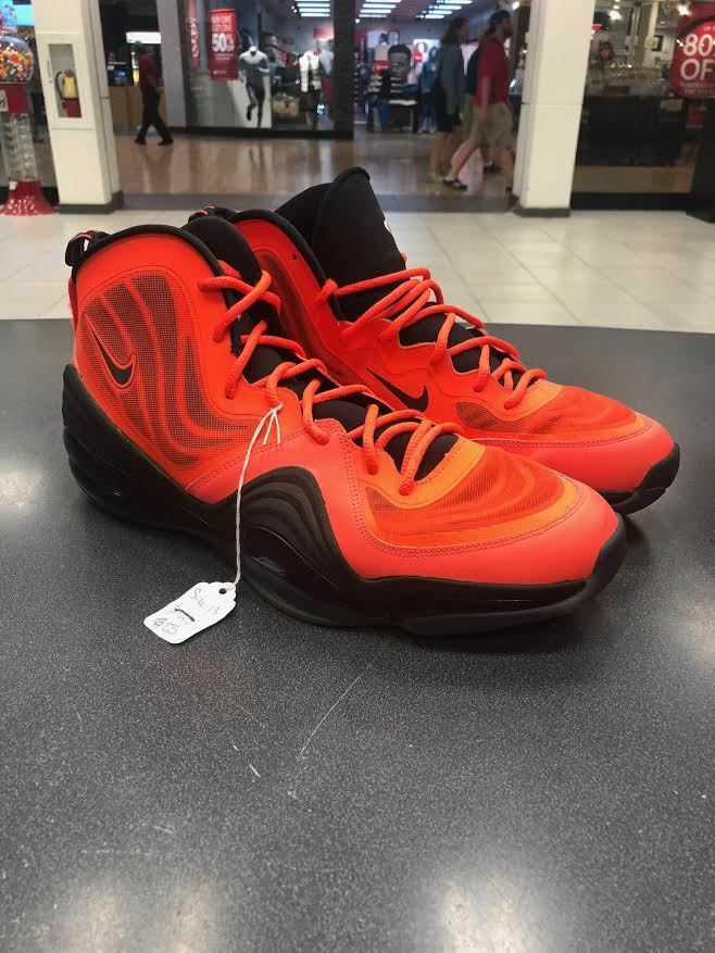 Nike Air Penny V 5 Crimson Orange Size 13 Basketball Jordan Kobe