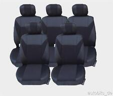 5x Sitzbezug Sitzbezüge Schonbezüge Schwarz für VW Sharan Touran Ford Galaxy