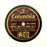 "CARROLL GIBBONS (Piano Solo) ""Carroll Calls The Tunes (No. 5)"" COLUMBIA [78 RPM]"