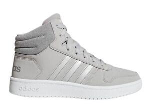 Adidas-HOOPS-MID-2-0-F35796-Grigio-Scarpe-Donna-Bambino-Sneakers-Ginnastica