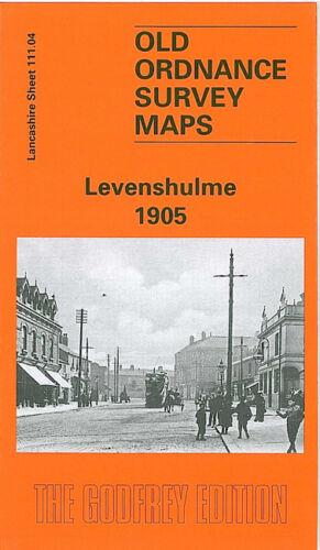 OLD ORDNANCE SURVEY MAP LEVENSHULME 1905 MANCHESTER SLADE LANE BROOM LANE END