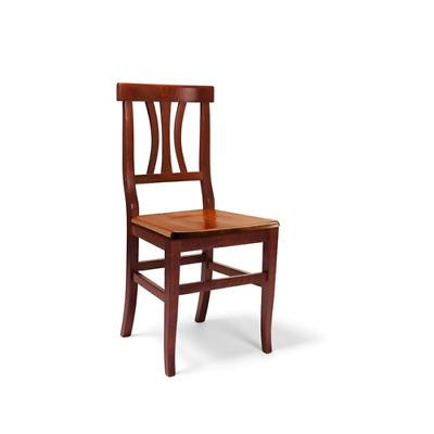 Set 2 sedie da cucina LAURA in legno massello con seduta in legno   eBay