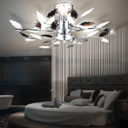 Design Decken Lampe Blüten Blätter Leuchte Beleuchtung Chrom Wohn Zimmer Küche